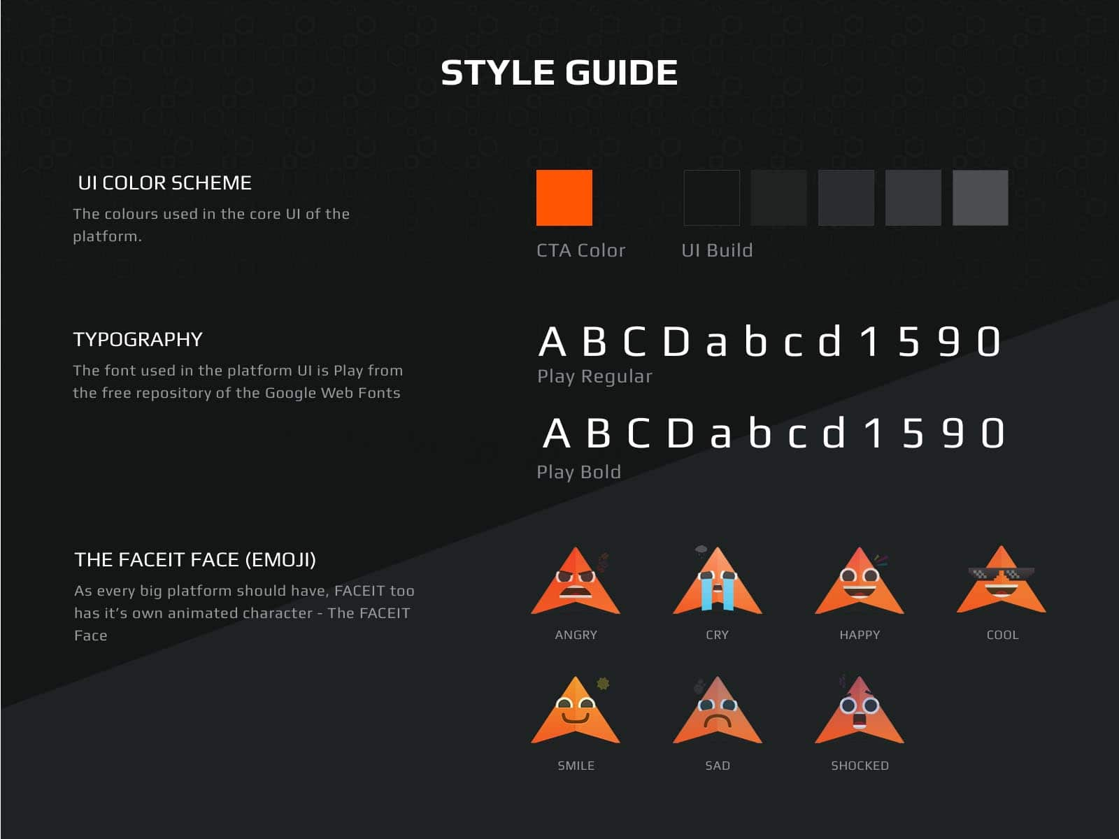 faceit style guide design