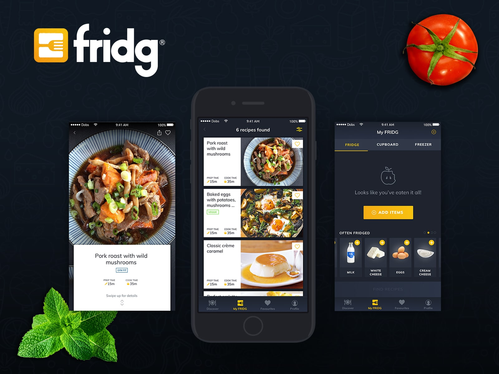 fridgapp digital cooking assistant