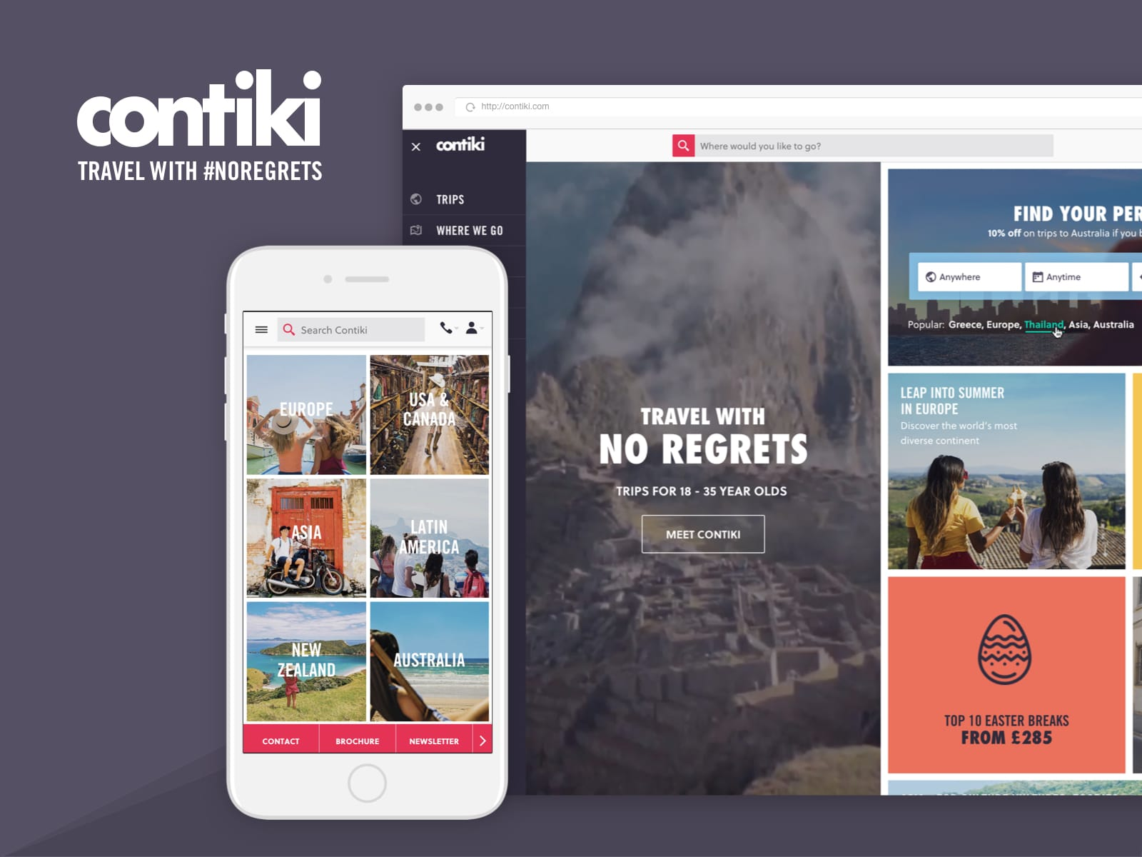 contiki travel website