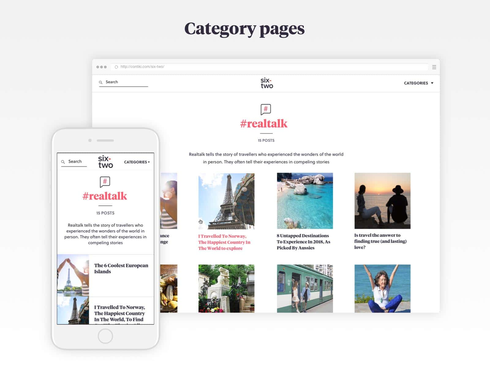 six-two category pages