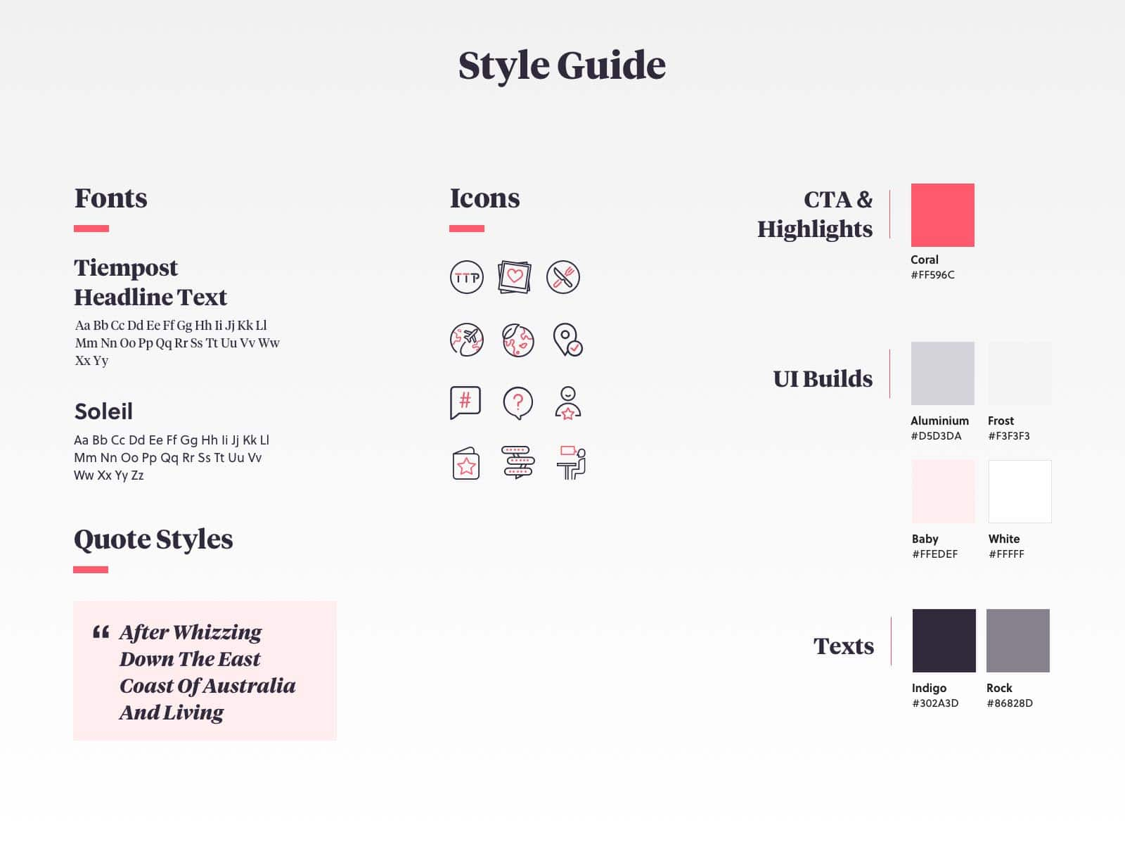 six-two style guide design handover