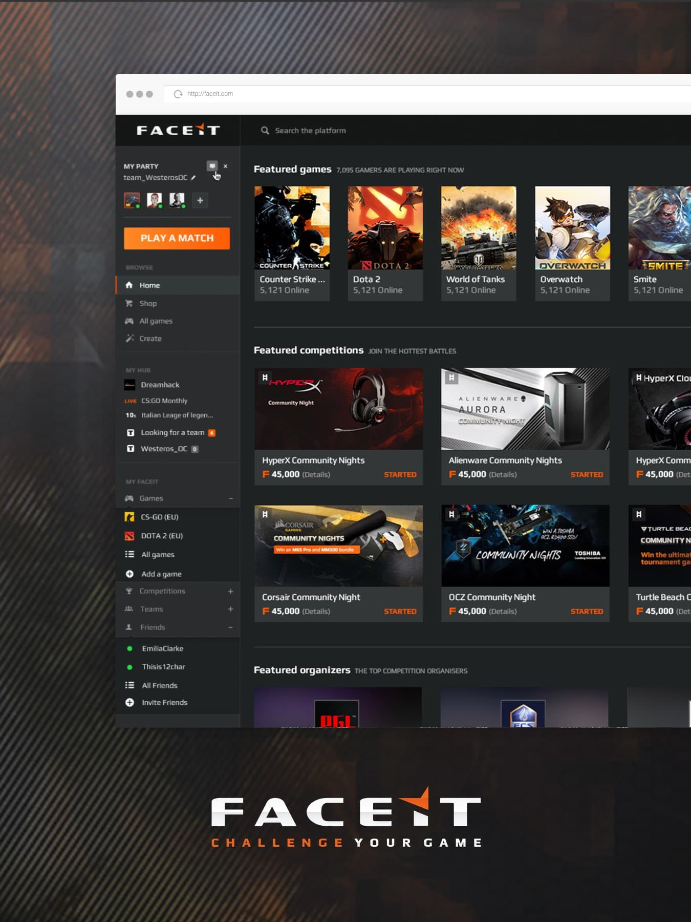faceit esports gaming platform