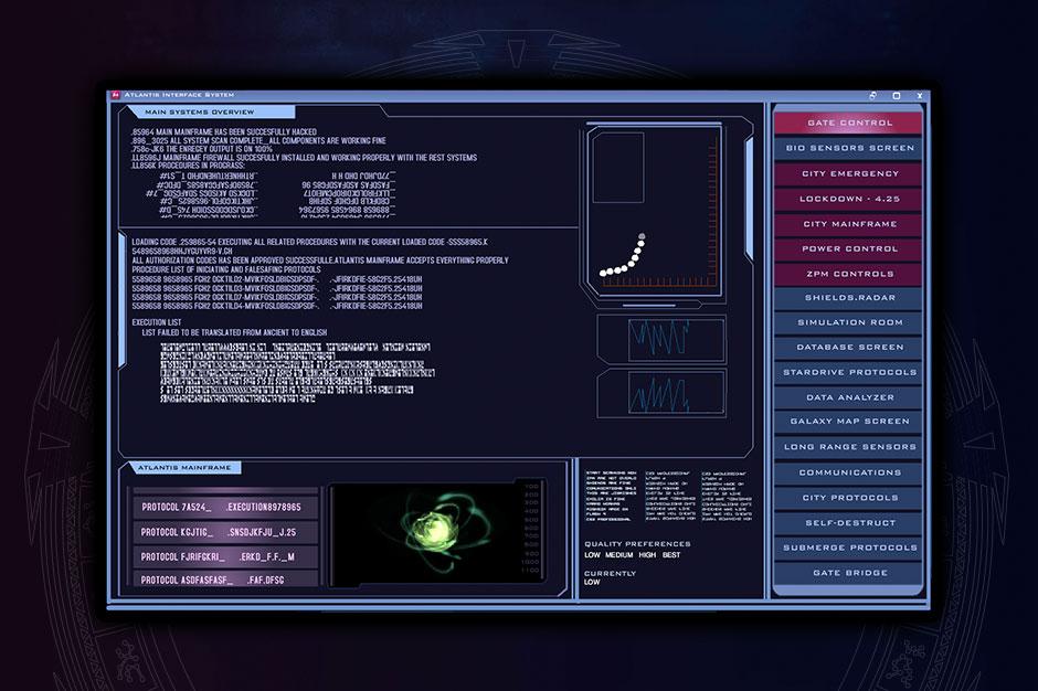 aisnsim starting screen UI