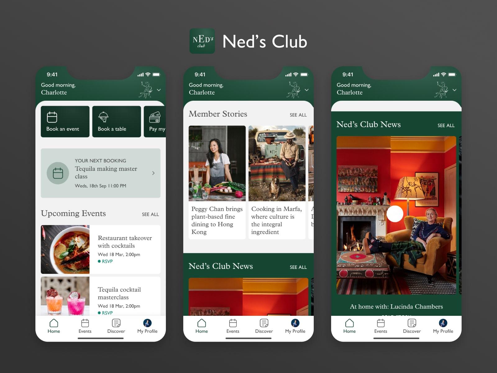 neds club home screen